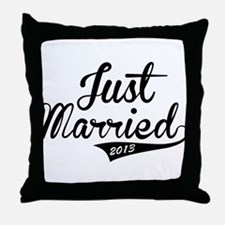 Just Married 2013 Throw Pillow