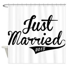 Just Married 2013 Shower Curtain