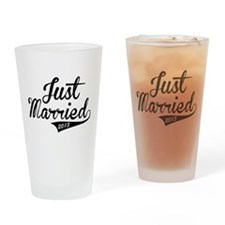 Just Married 2013 Drinking Glass