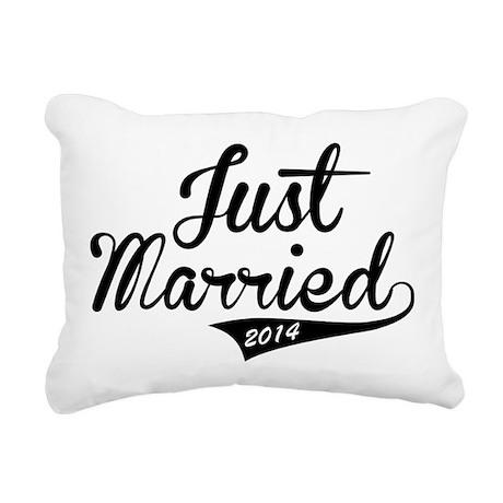 Just Married 2014 Rectangular Canvas Pillow