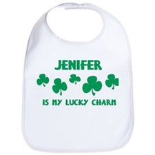Jenifer is my lucky charm Bib