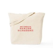 senior-discount-KON-RED Tote Bag