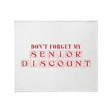 senior-discount-KON-RED Throw Blanket