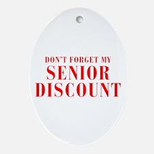 senior-discount-bod-red Ornament (Oval)