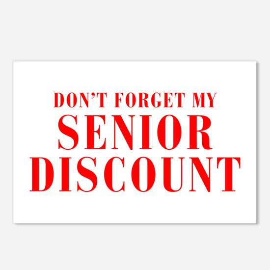 senior-discount-bod-red Postcards (Package of 8)