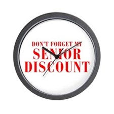 senior-discount-bod-red Wall Clock