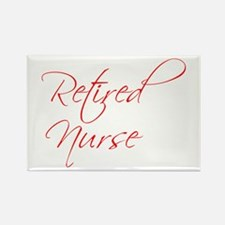 retired-nurse-scr-red Rectangle Magnet