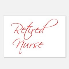 retired-nurse-scr-red Postcards (Package of 8)