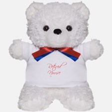 retired-nurse-scr-red Teddy Bear