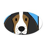 Coonhound Oval Car Magnets