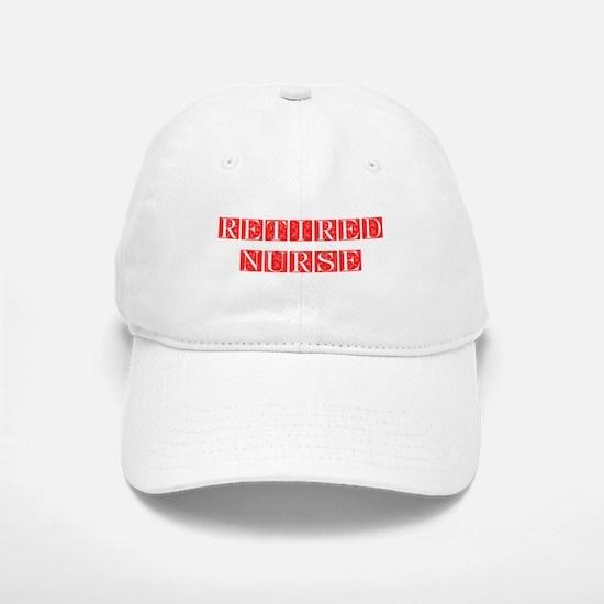 retired-nurse-FLE-RED Baseball Baseball Baseball Cap