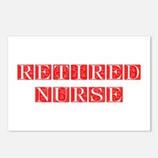 retired-nurse-FLE-RED Postcards (Package of 8)