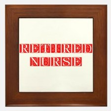 retired-nurse-FLE-RED Framed Tile