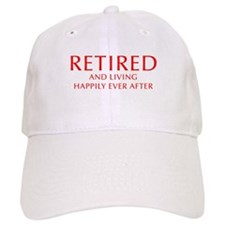 retired-and-living-happily-OPT-RED Baseball Baseball Cap