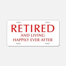 retired-and-living-happily-OPT-RED Aluminum Licens