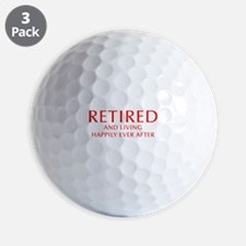retired-and-living-happily-OPT-RED Golf Ball