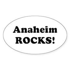 Anaheim Rocks! Oval Decal