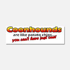 potatochips_coonhound Car Magnet 10 x 3