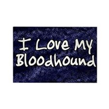 funklove_oval_bloodhound Rectangle Magnet