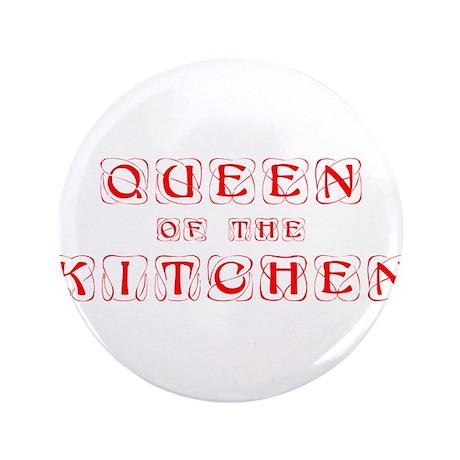 """queen-of-kitchen-kon-red 3.5"""" Button"""