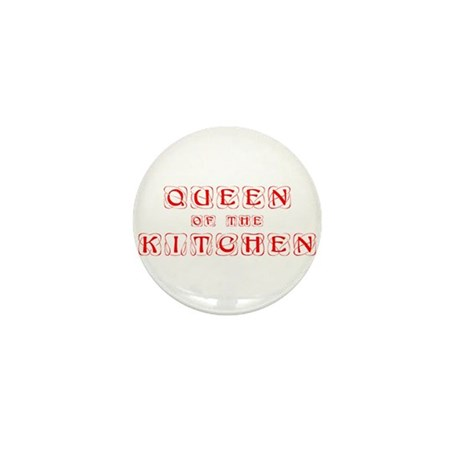 queen-of-kitchen-kon-red Mini Button (100 pack)