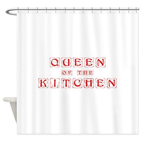 queen-of-kitchen-kon-red Shower Curtain