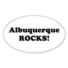 Albuquerque Rocks! Oval Decal