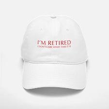 Im-retired-OPT-RED Baseball Baseball Baseball Cap