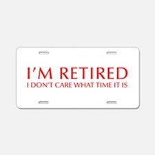 Im-retired-OPT-RED Aluminum License Plate
