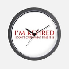 Im-retired-OPT-RED Wall Clock