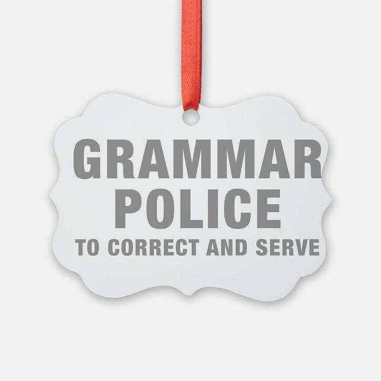 grammar-police-hel-gray Ornament