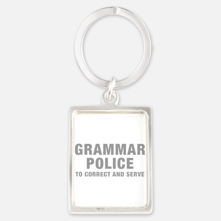grammar-police-hel-gray Keychains