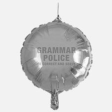 grammar-police-hel-gray Balloon