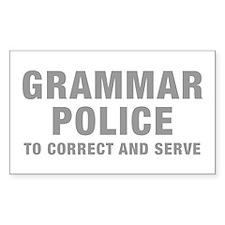 grammar-police-hel-gray Decal