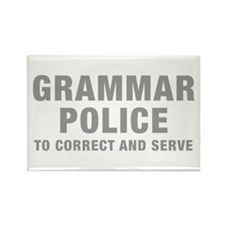 grammar-police-hel-gray Rectangle Magnet