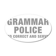 grammar-police-hel-gray Wall Decal
