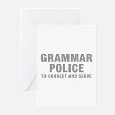 grammar-police-hel-gray Greeting Cards (Pk of 20)