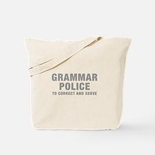 grammar-police-hel-gray Tote Bag