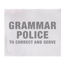 grammar-police-hel-gray Throw Blanket