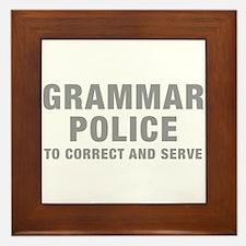 grammar-police-hel-gray Framed Tile