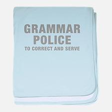 grammar-police-hel-gray baby blanket