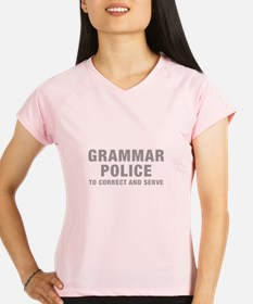 grammar-police-hel-gray Performance Dry T-Shirt