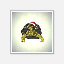 """3-ornament_boxturtle_lighte Square Sticker 3"""" x 3"""""""