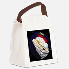 christmasnight_beardeddragon Canvas Lunch Bag