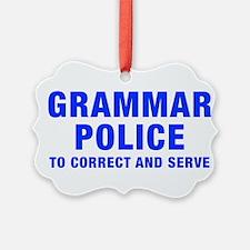 grammar-police-hel-blue Ornament