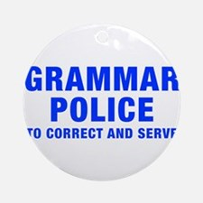 grammar-police-hel-blue Ornament (Round)