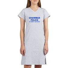 grammar-police-hel-blue Women's Nightshirt