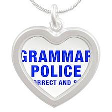 grammar-police-hel-blue Necklaces