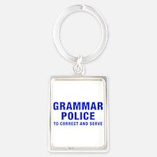 grammar-police-hel-blue Keychains