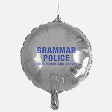 grammar-police-hel-blue Balloon